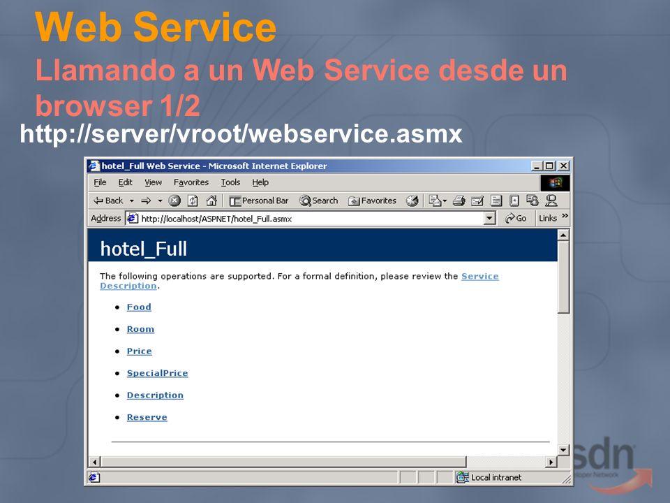 Web Service Llamando a un Web Service desde un browser 1/2