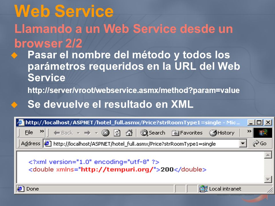 Web Service Llamando a un Web Service desde un browser 2/2