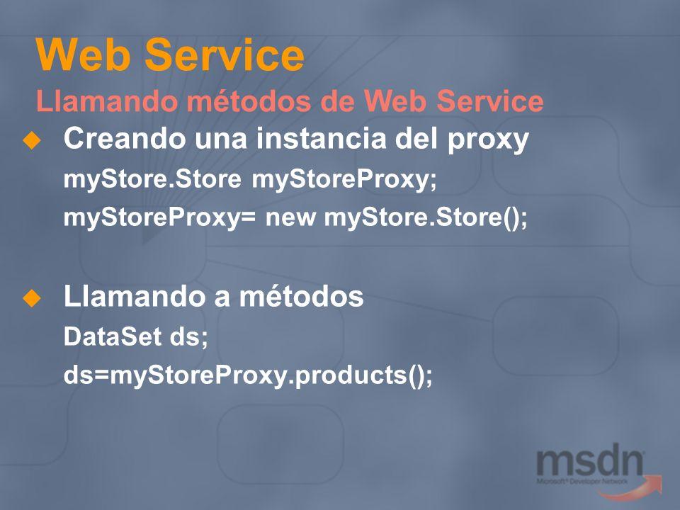 Web Service Llamando métodos de Web Service