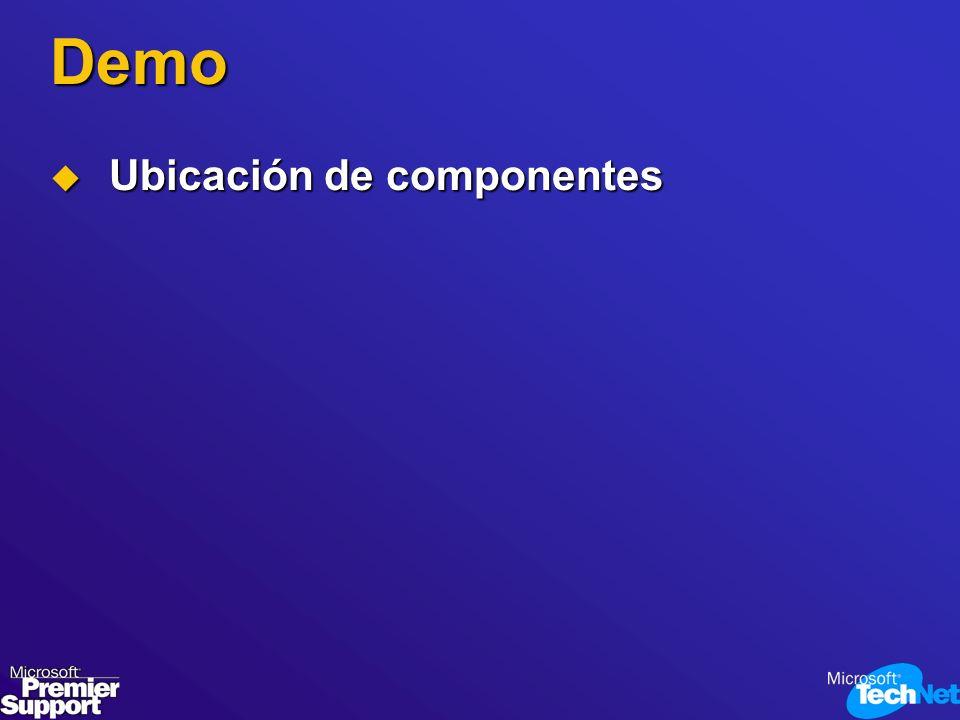 Demo Ubicación de componentes