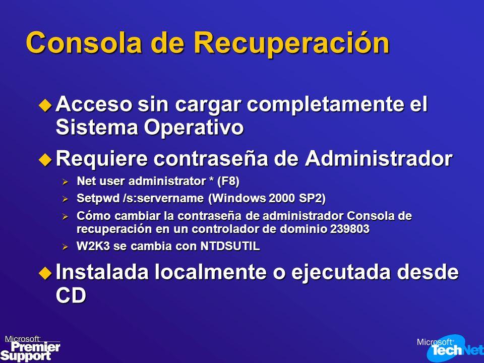 Consola de Recuperación