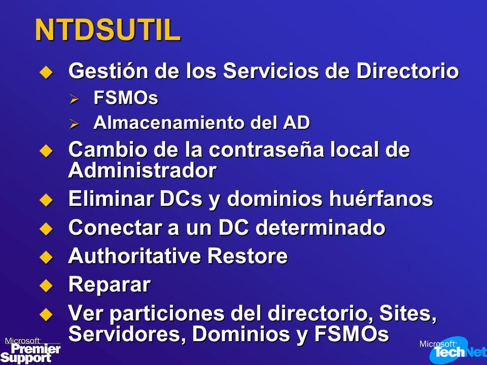 NTDSUTIL Gestión de los Servicios de Directorio