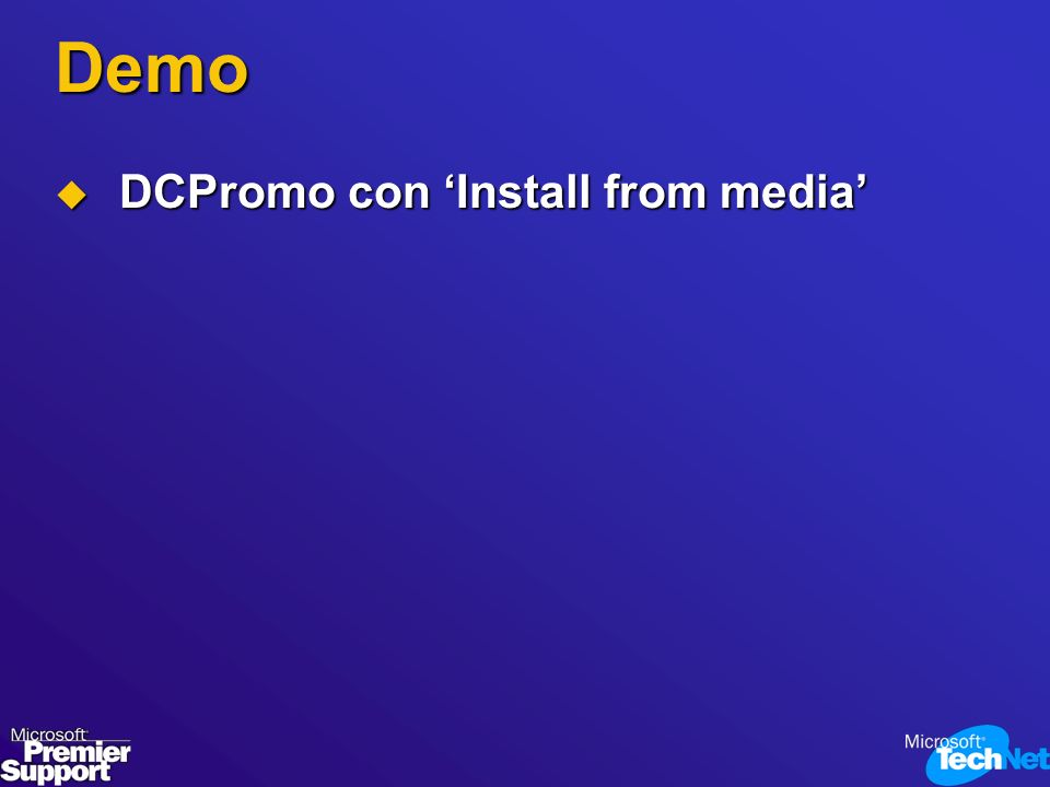 Demo DCPromo con 'Install from media'