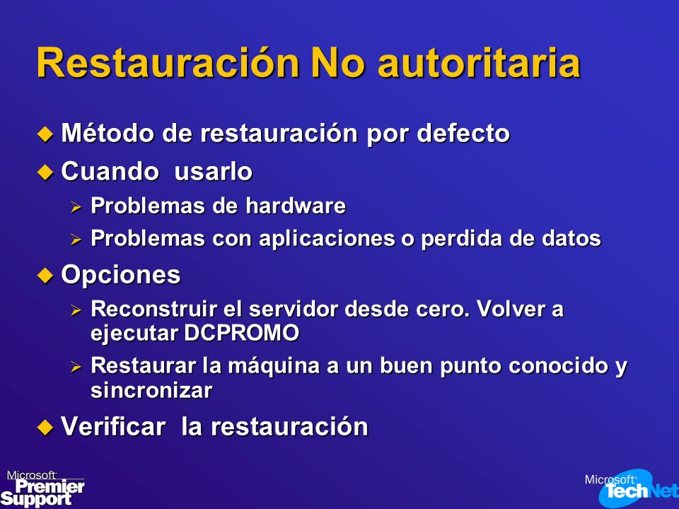 Restauración No autoritaria