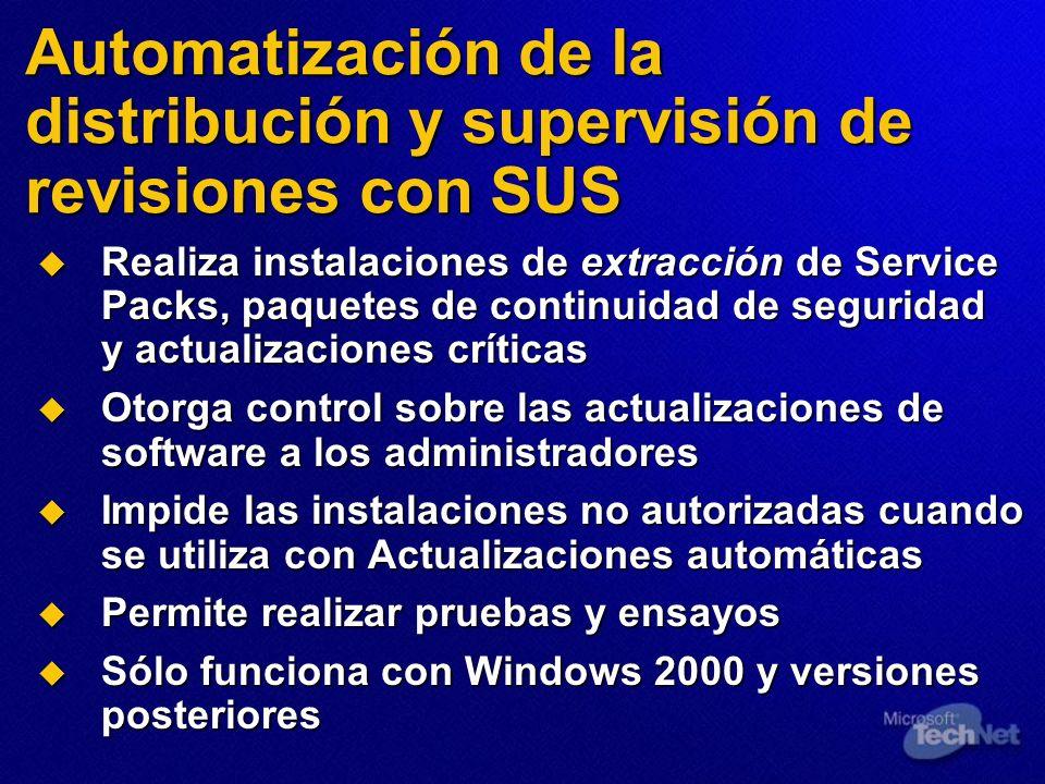 Automatización de la distribución y supervisión de revisiones con SUS
