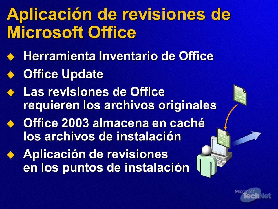 Aplicación de revisiones de Microsoft Office