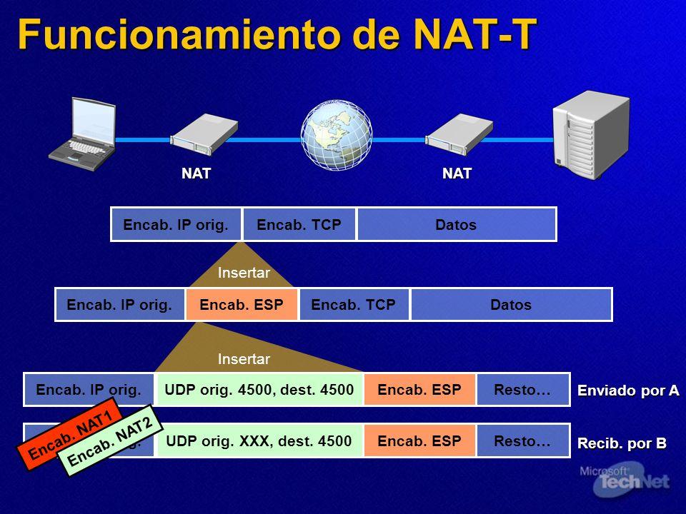 Funcionamiento de NAT-T
