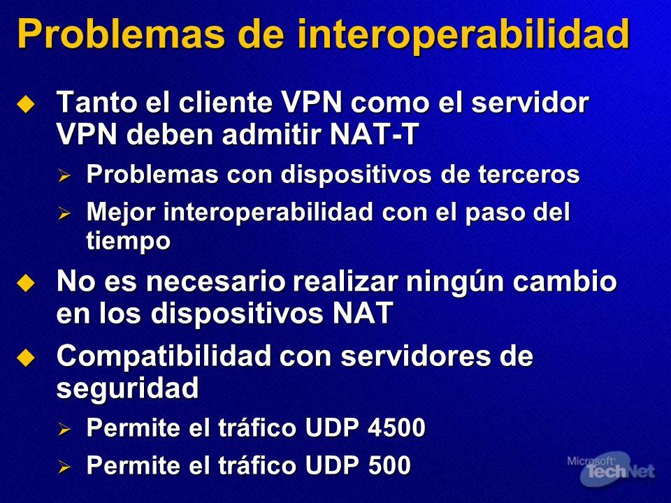 Problemas de interoperabilidad