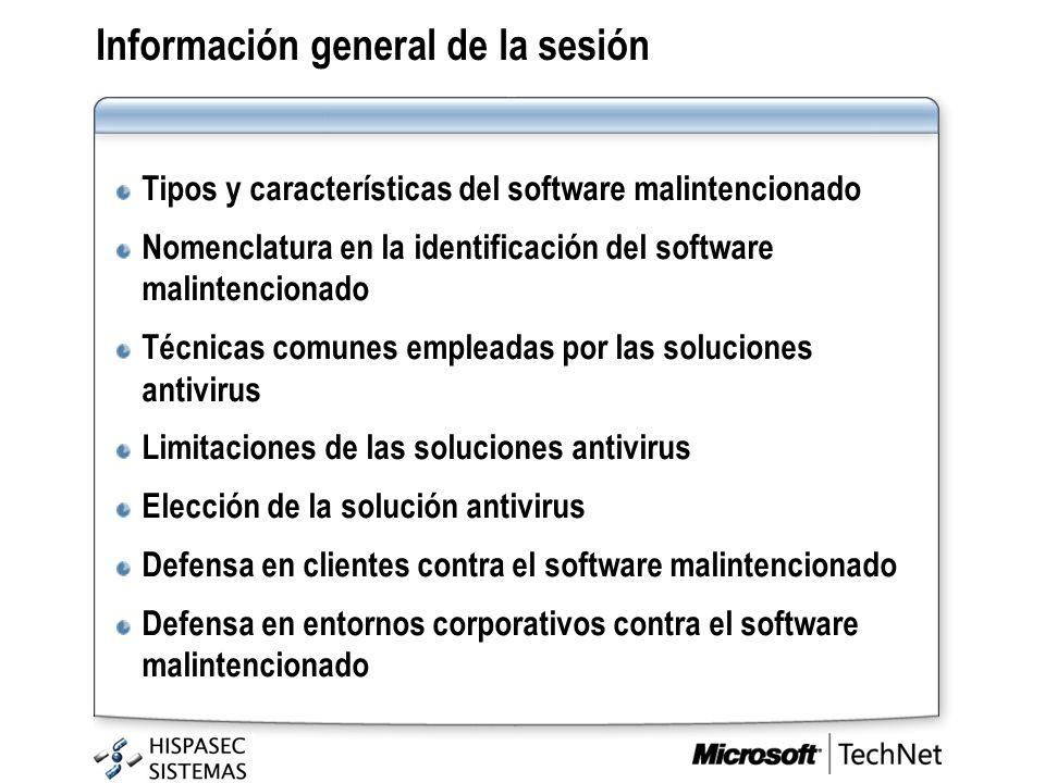 Información general de la sesión