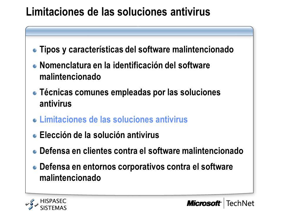 Limitaciones de las soluciones antivirus