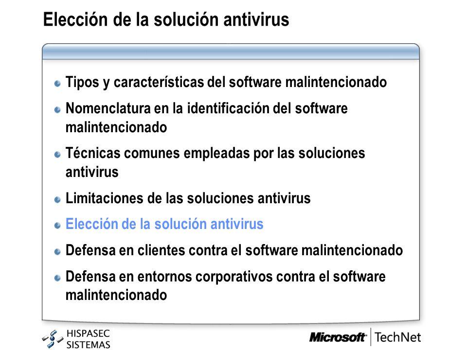 Elección de la solución antivirus