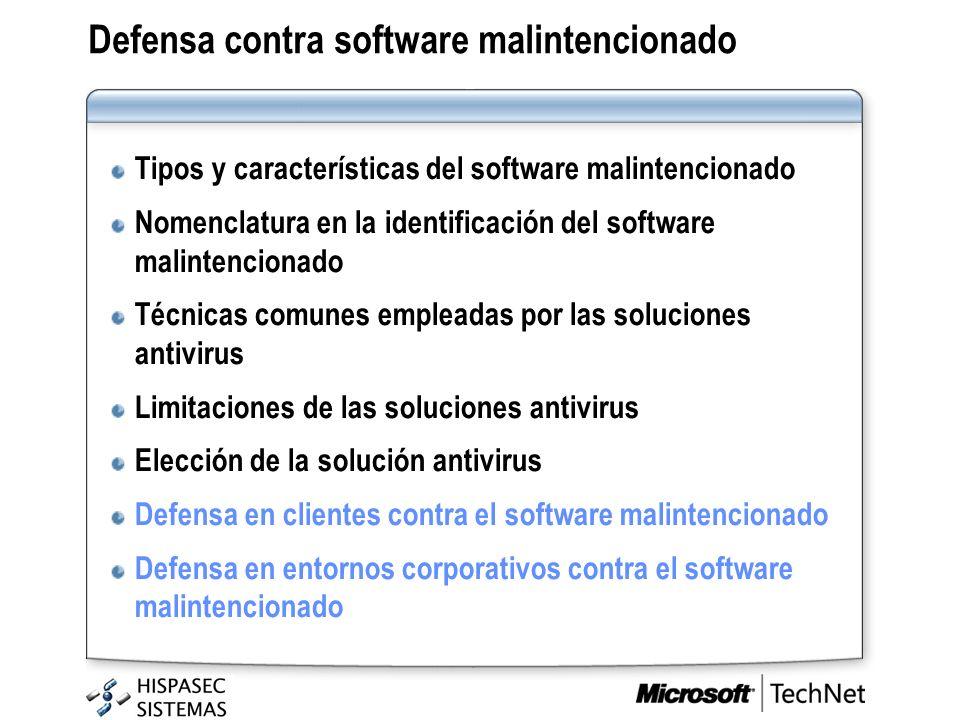 Defensa contra software malintencionado