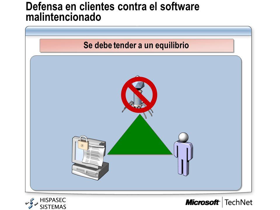 Defensa en clientes contra el software malintencionado