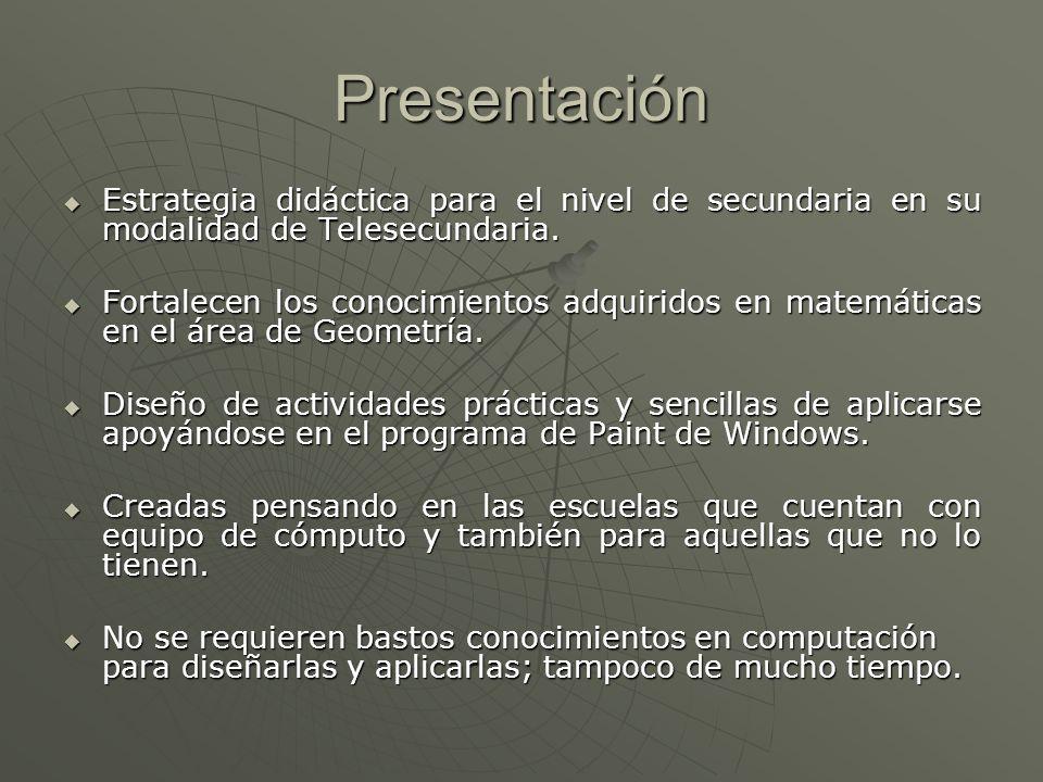 PresentaciónEstrategia didáctica para el nivel de secundaria en su modalidad de Telesecundaria.