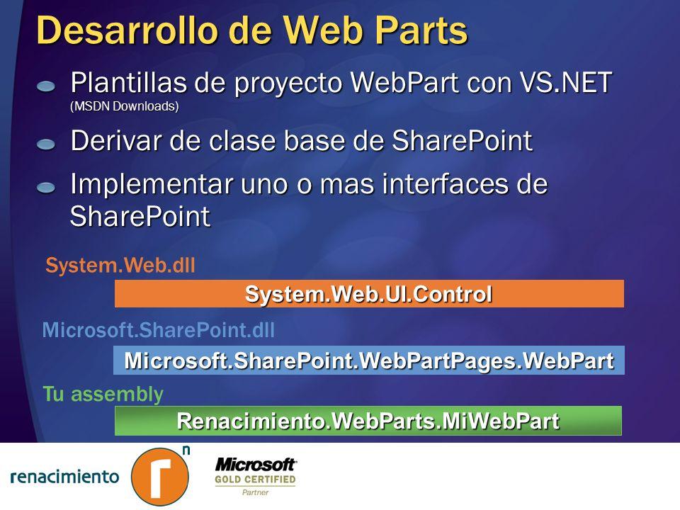 Desarrollo de Web Parts
