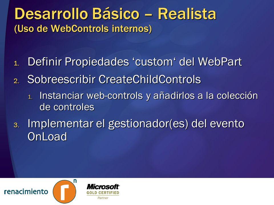 Desarrollo Básico – Realista (Uso de WebControls internos)