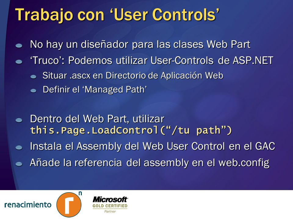 Trabajo con 'User Controls'