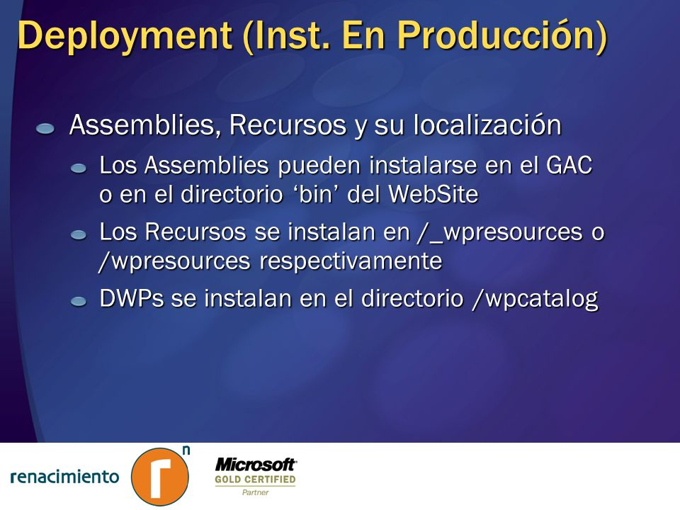 Deployment (Inst. En Producción)