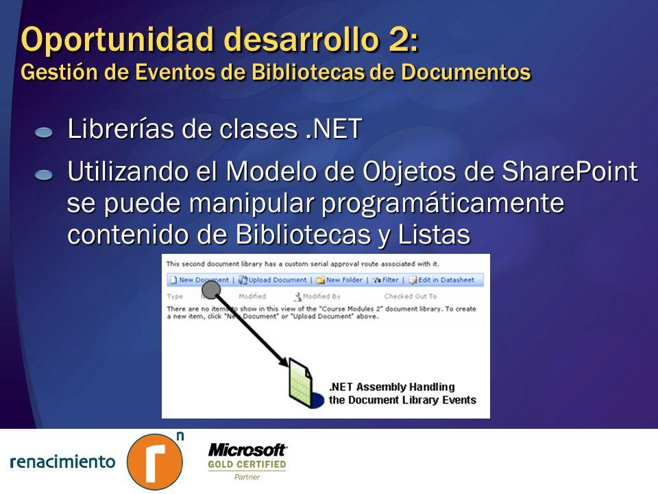 Oportunidad desarrollo 2: Gestión de Eventos de Bibliotecas de Documentos