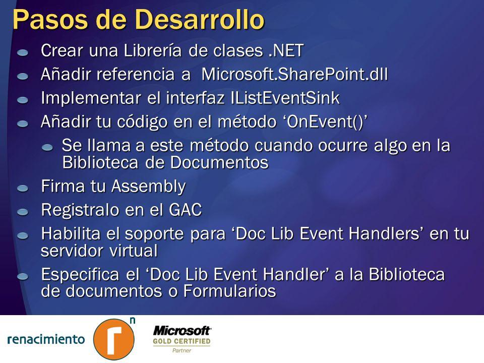 Pasos de Desarrollo Crear una Librería de clases .NET