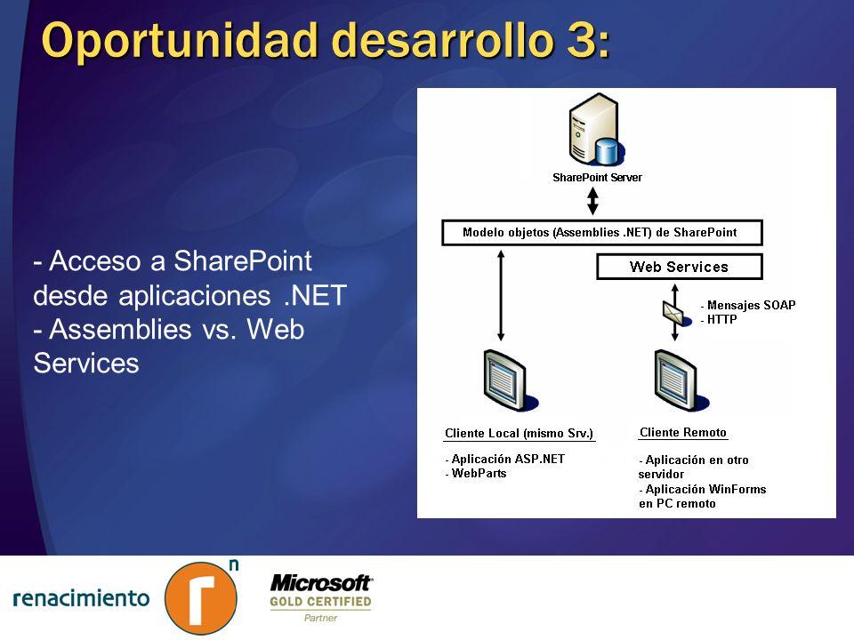 Oportunidad desarrollo 3:
