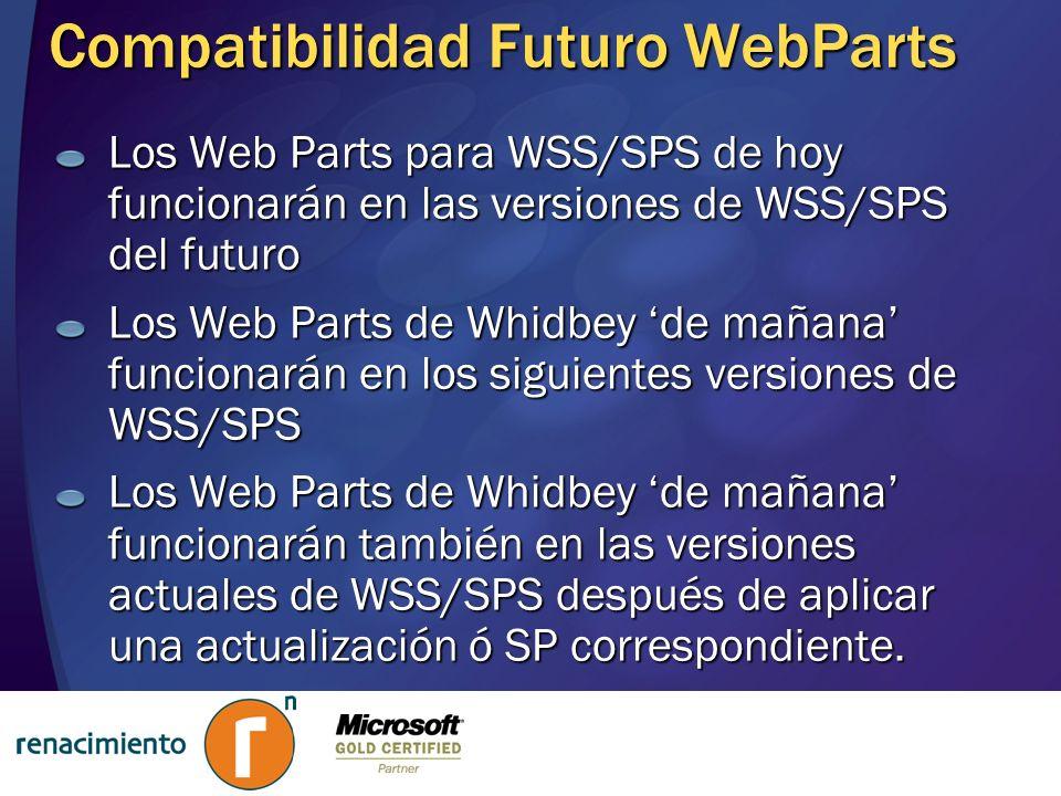 Compatibilidad Futuro WebParts