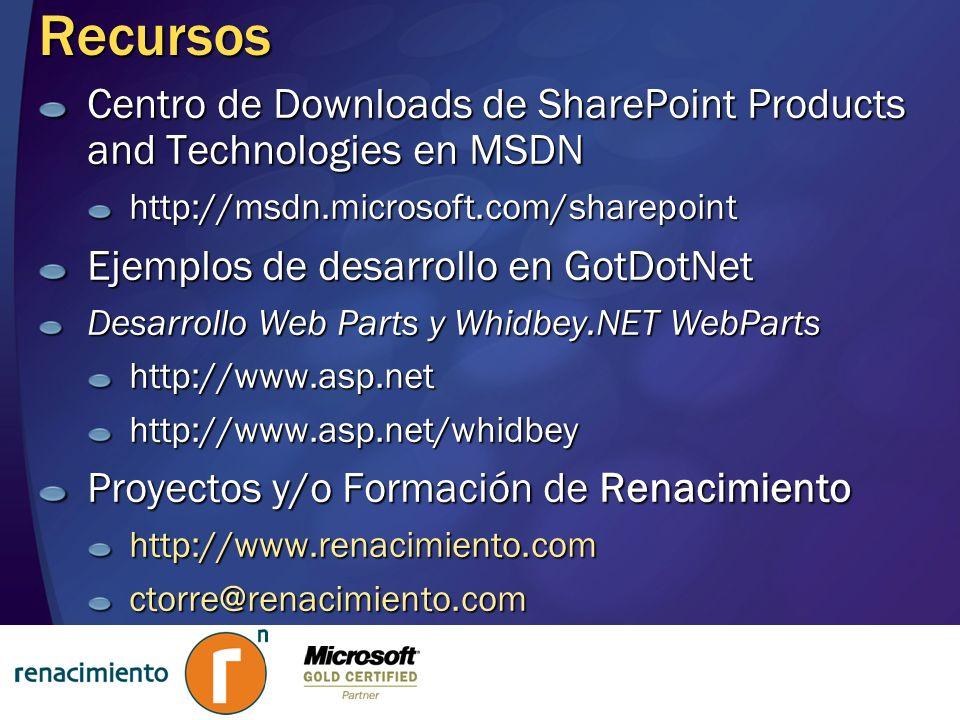 Renacimiento – Talleres MSDN 2004