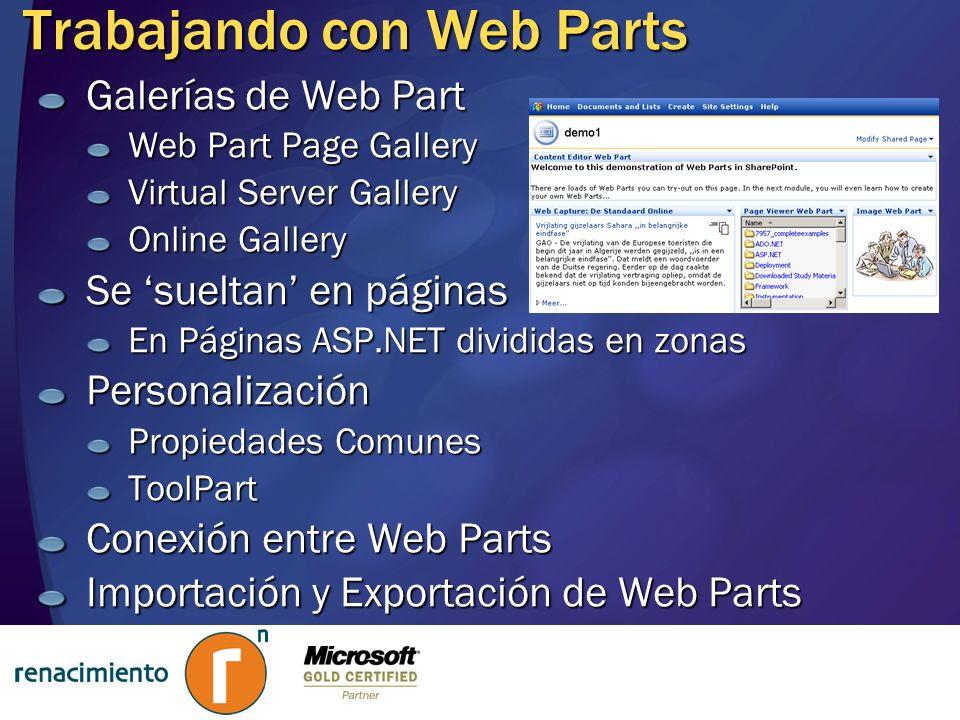 Trabajando con Web Parts
