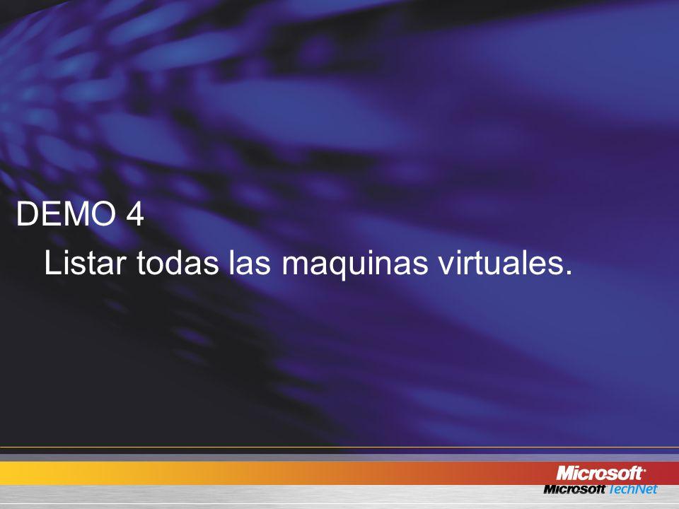 DEMO 4 Listar todas las maquinas virtuales.