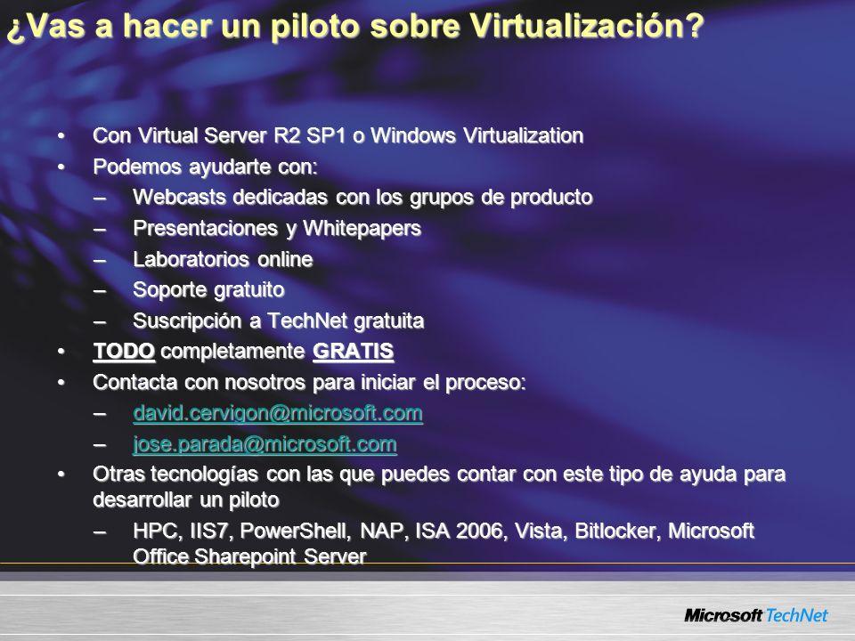 ¿Vas a hacer un piloto sobre Virtualización