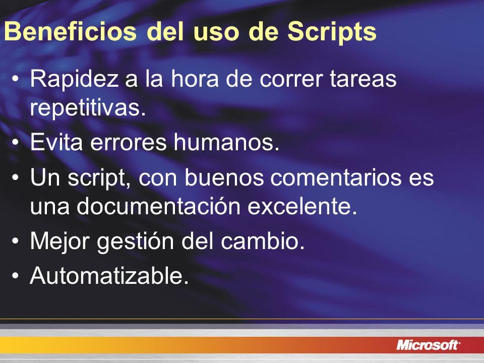 Beneficios del uso de Scripts