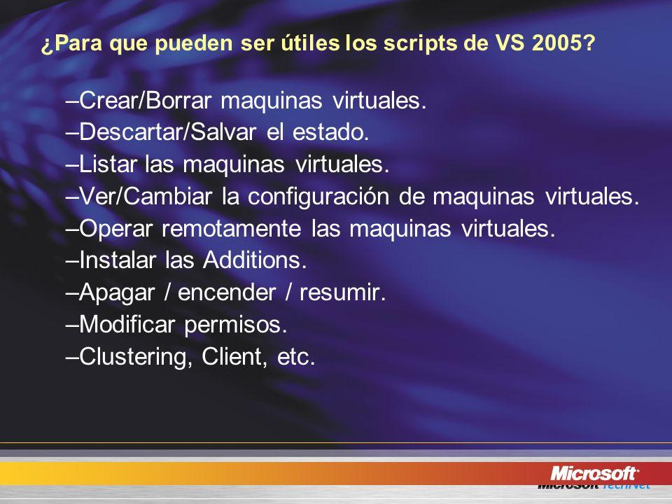 ¿Para que pueden ser útiles los scripts de VS 2005