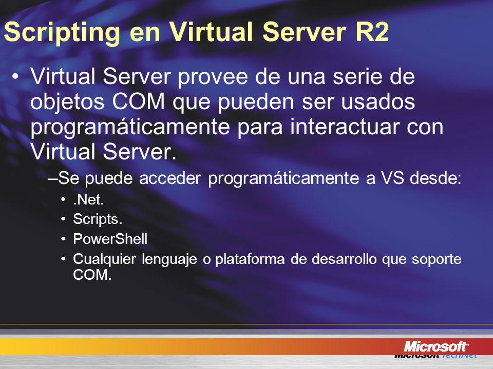Scripting en Virtual Server R2