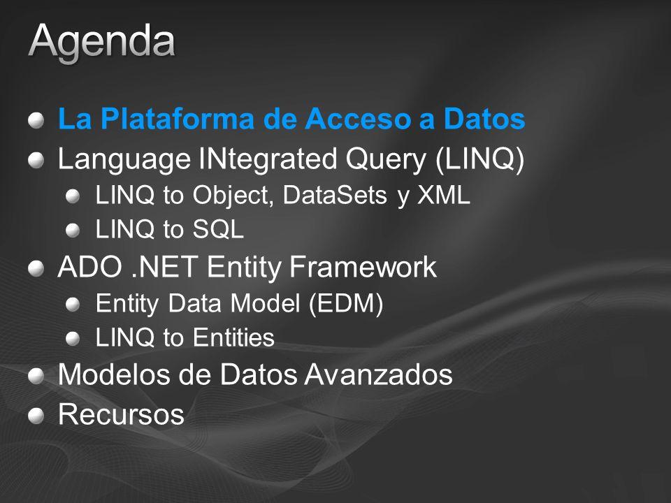 Agenda La Plataforma de Acceso a Datos