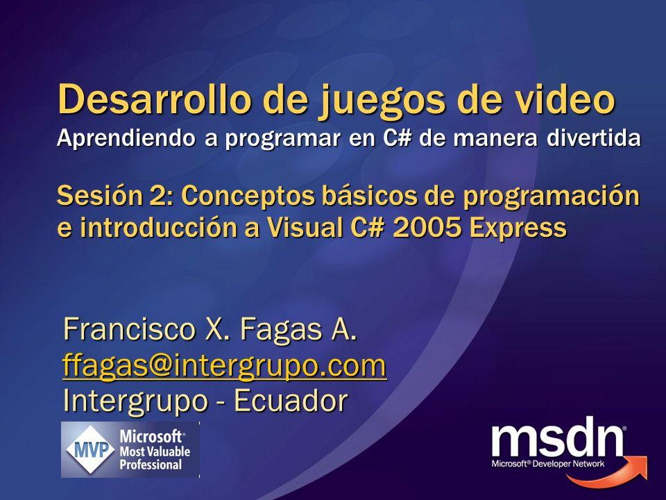 Francisco X. Fagas A. ffagas@intergrupo.com Intergrupo - Ecuador