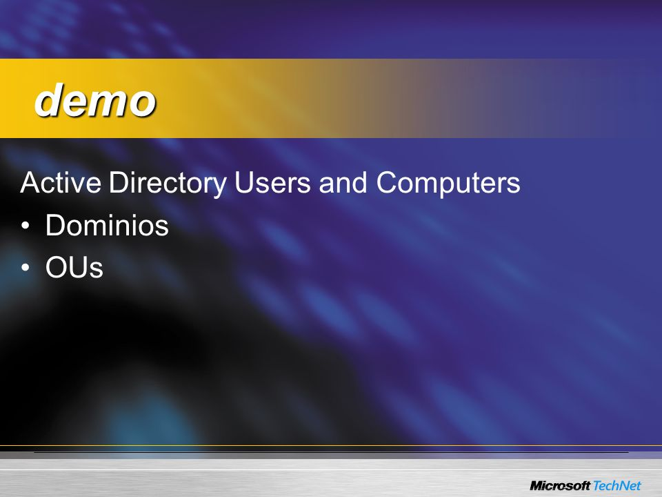 demo Active Directory Users and Computers Dominios OUs