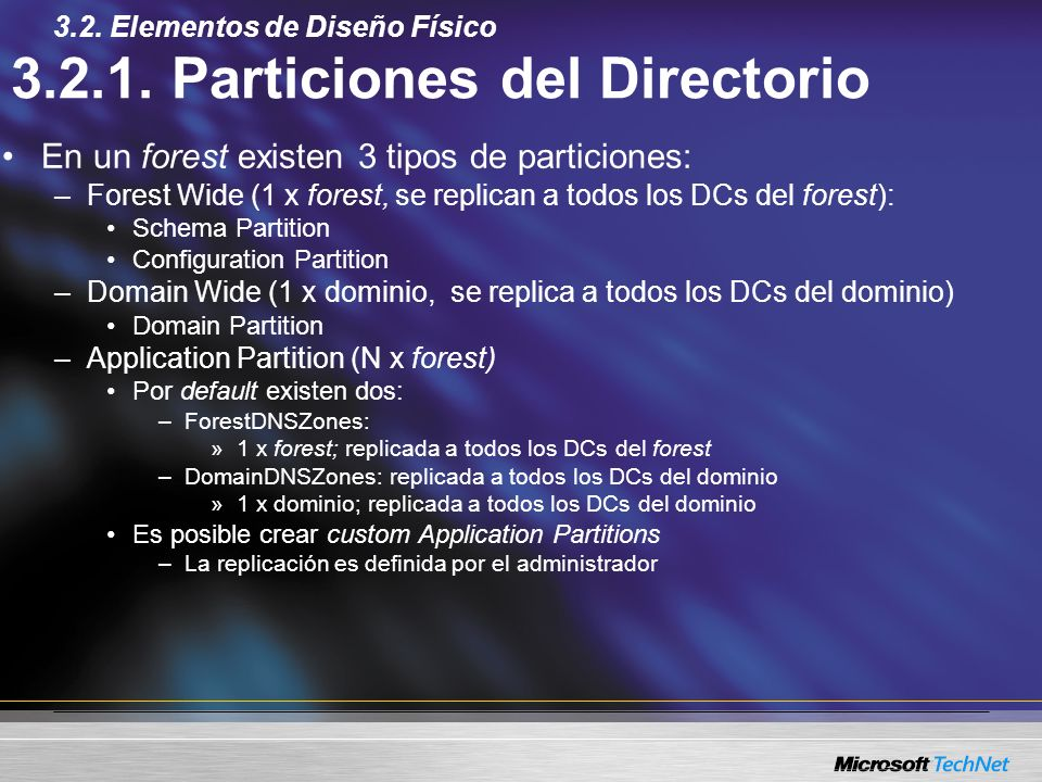 3.2.1. Particiones del Directorio