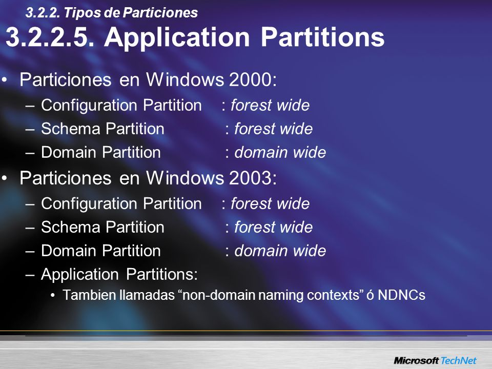 3.2.2.5. Application Partitions