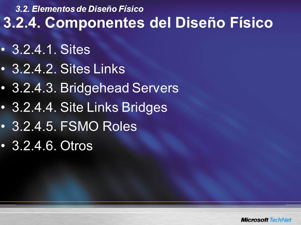 3.2.4. Componentes del Diseño Físico