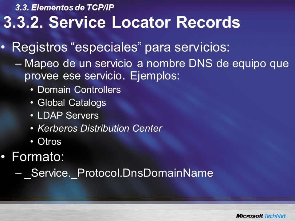 3.3.2. Service Locator Records