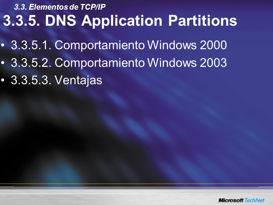 3.3.5. DNS Application Partitions