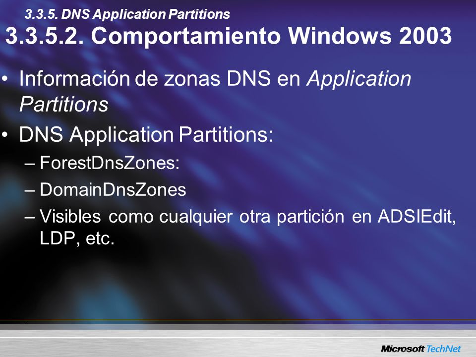 Comportamiento Windows 2003