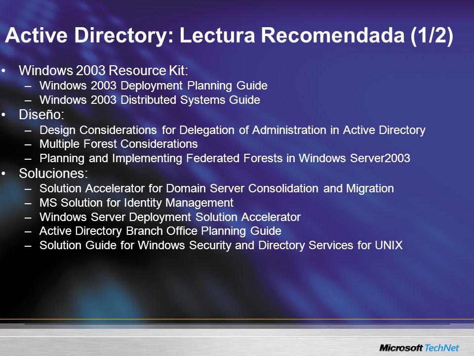 Active Directory: Lectura Recomendada (1/2)