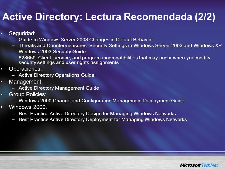 Active Directory: Lectura Recomendada (2/2)