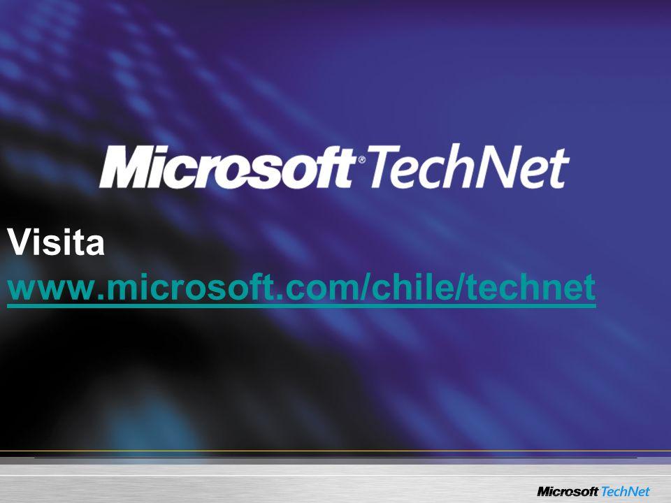 Visita www.microsoft.com/chile/technet