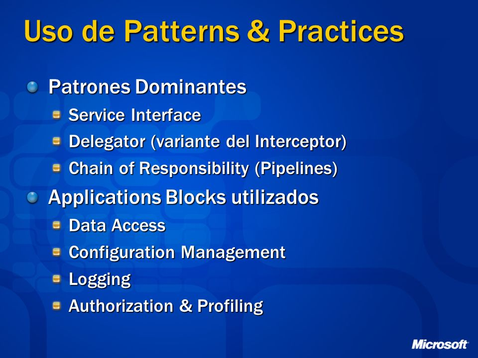 Uso de Patterns & Practices