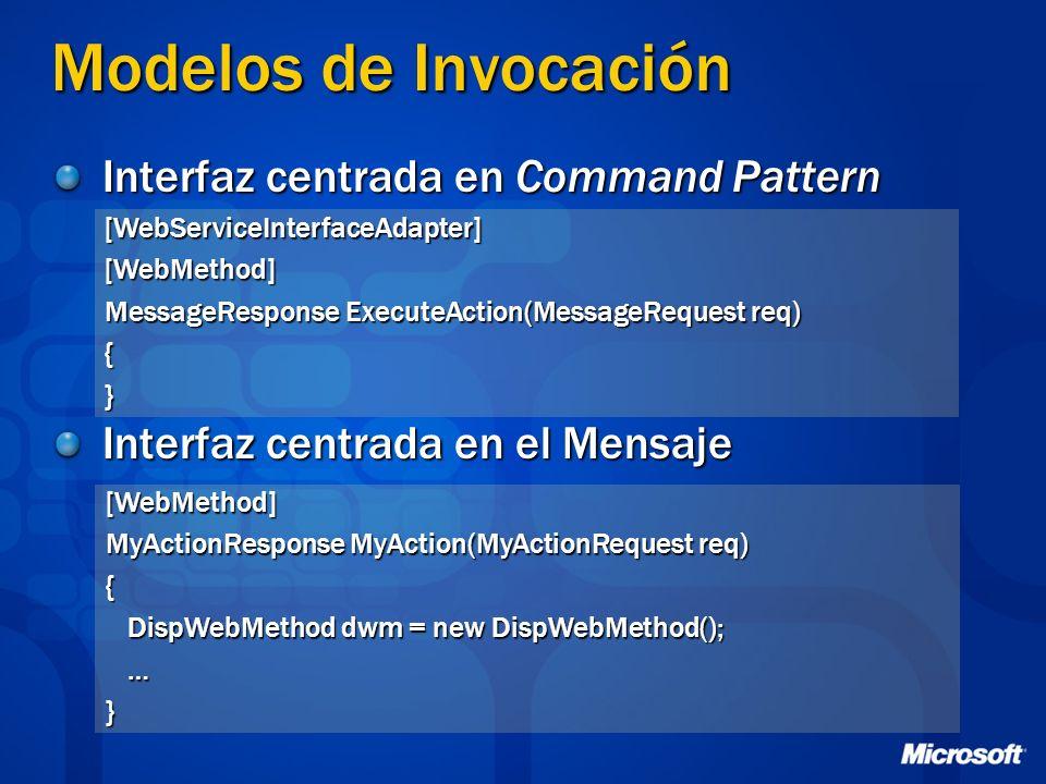 Modelos de Invocación Interfaz centrada en Command Pattern