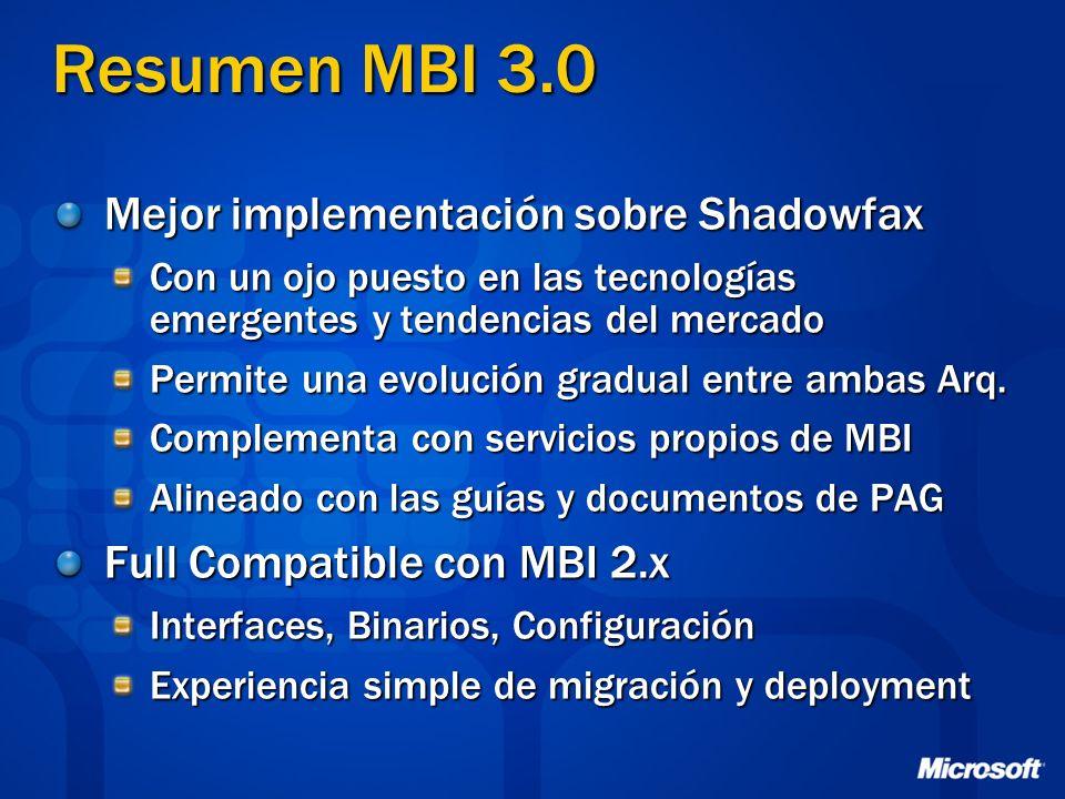 Resumen MBI 3.0 Mejor implementación sobre Shadowfax