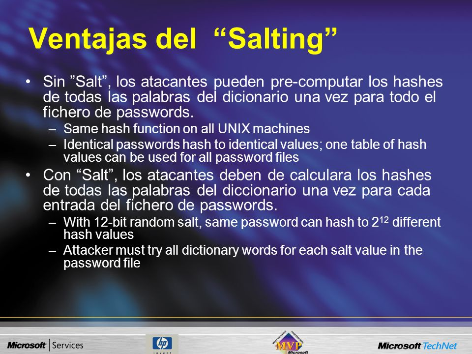 Ventajas del Salting