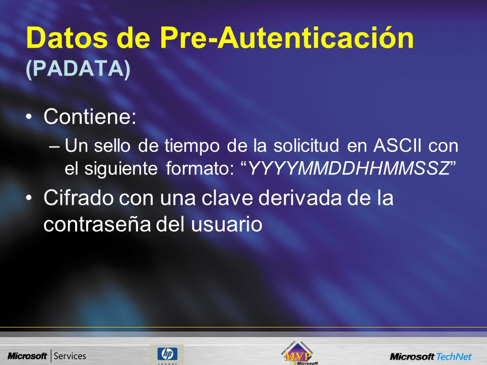 Datos de Pre-Autenticación (PADATA)